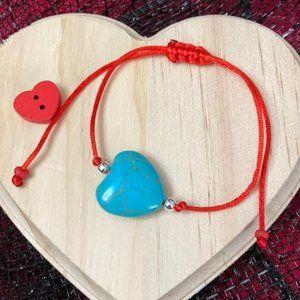 Blue Love 💙 Turquoise Howlite stone bracelet